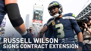 Seahawks Quarterback Russell Wilson Signs Contract Extension