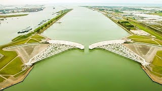 Công trình vĩ đại nhất thế giới của Hà Lan - Hàng rào chắn sóng Maeslantkering | Trí Thức VN