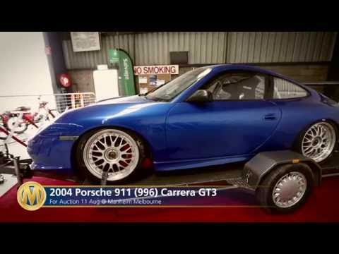 2004 Porsche 911 (996) Carrera GT3 @ Melbourne Salvage Auction