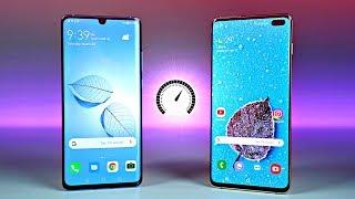 Huawei P30 Pro vs Samsung Galaxy S10 Plus - Speed Test!