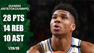 Giannis Antetokounmpo hits 10,000 points, notches triple-double for Bucks | 2019-20 NBA Highlights