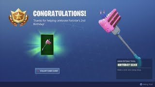 *UNLOCKING* ALL NEW FREE Fortnite BIRTHDAY REWARDS After Finding ALL Cake Locations!!