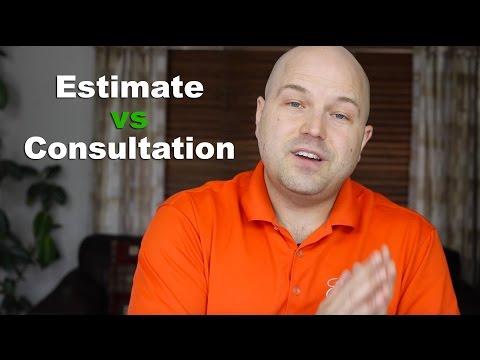 Estimate vs Consultation