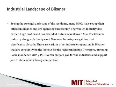 Distance Management Courses   Correspondence MBA   Distance MBA in Bikaner
