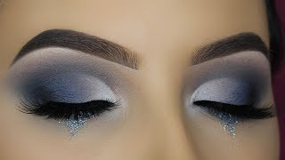 Smokey Glitter Tears Eye Makeup Tutorial