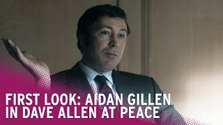 Aidan Gillen is Dave Allen | First Look at Dave Allen At Peace