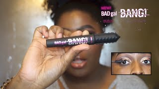 Another Mascara Benefit?.....NEW! BAD GAL BANG MASCARA FIRST IMPRESSIONS | This Is Black Beauty