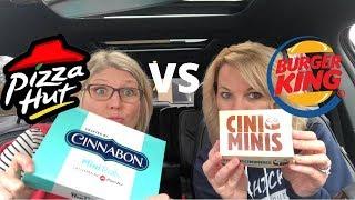 Burger King CINI MINIS VS Pizza Hut Cinnabon Mini Rolls