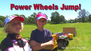 Power Wheels Jump! World Record 27 Power Wheels! Real or Fake?
