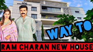 Way to Mega Power Star Ram Charan's new house in Hyderabad..