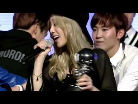 [Taeyeon, SUJU Kyuhyun & CSJH Stephanie] Hugging