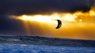 Amazing kitesurfing #DRONE MOVIE#