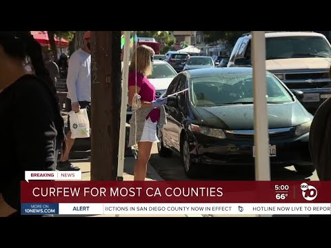 Curfew for San Diego County, most California counties issued