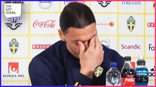 Zlatan Ibrahimović bursts into tears talking about his son in a press conference | Oh My Goal
