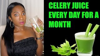 I Drank Celery Juice EVERY DAY for a MONTH and THIS HAPPENED!! Celery Juice Cleanse