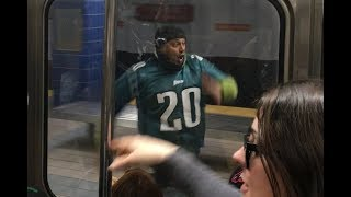 Eagles Fan Runs Into Pole