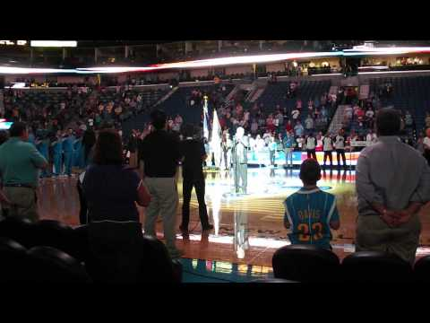 Smoky Greenwell's National Anthem at New Orleans Hornets Game