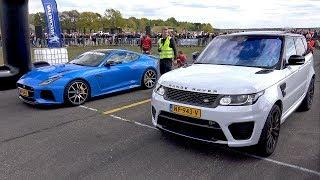 Jaguar F-Type SVR vs Range Rover Sport SVR - DRAG RACE!