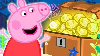 Peppa Pig Official Channel   Peppa Pig Finds a Treasure Chest at the Great Barrier Reef