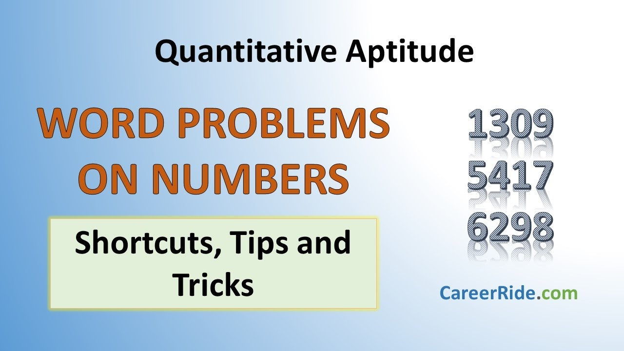 Problems on Numbers - Shortcuts & Tricks for Placement Tests, Job  Interviews & Exams