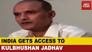Indian Diplomats meet Kulbhushan Jadhav..