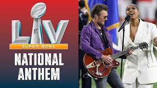 Jazmine Sullivan & Eric Church Sing the National Anthem at Super Bowl LV
