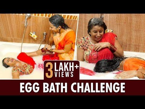 Sisters Fighting n Bathing with 300 Eggs ||Egg Bath Challenge