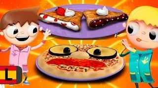 Recetas famosas: pizza y crepes. Cocinar con niños, Telmo y Tula