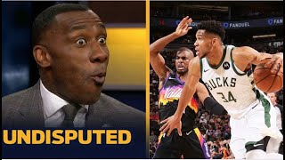 UNDISPUTED | Shannon reacts Giannis delivers on late clutch alley-oop in 123-119 win over Suns