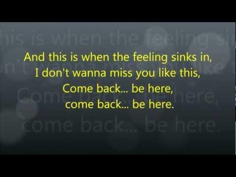 Taylor Swift - Come Back ... Be Here - Lyrics