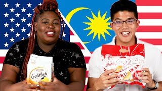 Americans & Malaysians Swap Snacks