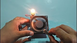 Make FREE ENERGY ELECTRICITY With CPU Fan And MAGNET 100% Working