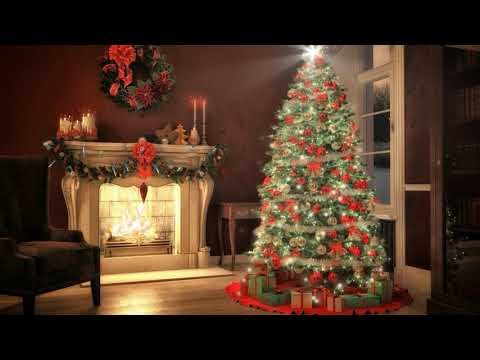 Christmas Lights Fire Royality Free Background Video Loop HD