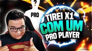TIREI X1 COM UM PRO PLAYER DE FREE FIRE