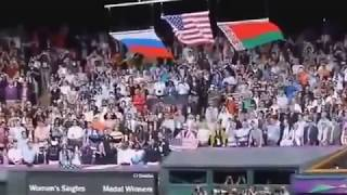 The impact of Russian national anthem on the USA flag