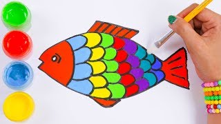 Colorful Fish Drawing and Learn Color for Toddler and Kids by Easy Arts & Crafts TV.
