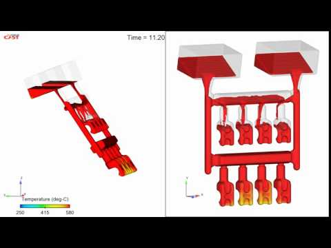 Tilt pour casting with non-inertial reference frame motion