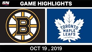 NHL Highlights | Bruins vs. Maple Leafs – Oct. 19, 2019