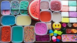 Slime Smoothie - Mixing Old Slimes And more and Foam Bricks