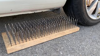 Experiment Car vs 200 Nails   Crushing crunchy & soft things by car   Test Ex