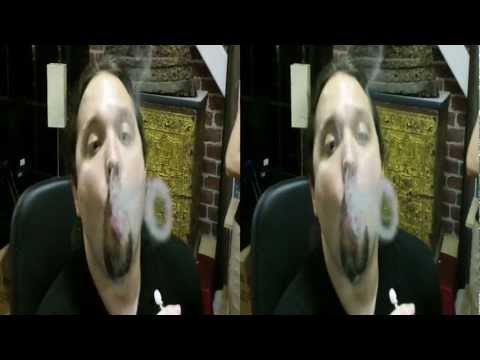 Smoking a Hookah, blowing smoke rings (YT3D:enabled=true)