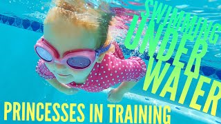 Mom sees Olivia Swim Underwater for First time and Quints Go To Princesses in Training