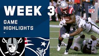 Raiders vs. Patriots Week 3 Highlights | NFL 2020