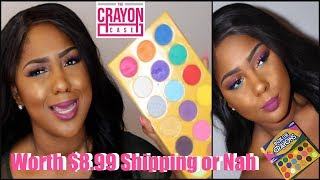 $8.99 shipping worth the BOX OF CRAYONS Palette or Nah?|Bright Summer Makeup WOC