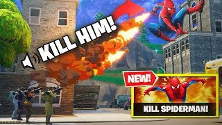 FIRST EVER KILL The Spider-Man Fortnite NEW GAMEMODE! NEW CUSTOM GAMEMODE IS WILD!