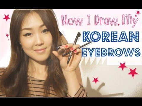 How I Draw My Korean-Style Eyebrows Tutorial ♥ 이쁜 눈썹 그리기