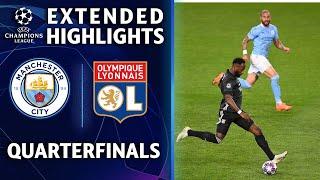 Manchester City vs. Lyon   Champions League Quarterfinal Highlights   UCL on CBS Sports