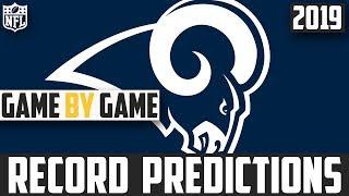 2019 NFL Record Predictions - Los Angeles Rams Record Prediction 2019