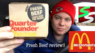 McDonalds Fresh Beef Quarter Pounder Review