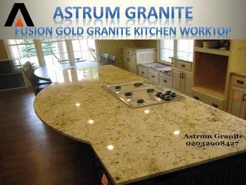 Best Fusion Gold Granite Kitchen Worktop London UK - Astrum Granite